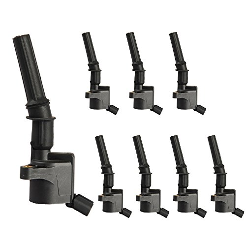 Pack of 8 Curved Boot Ignition Coil for Ford Lincoln Mercury 4.6L 5.4L V8 DG508 C1454 C1417 FD503 F7TU-12A366AB 1L2U12029AA I2LU-12A388-AA C1417 DG473 DG481 DG491