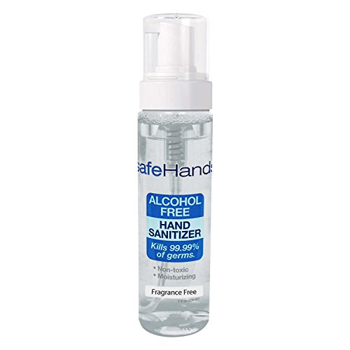 SafeHands #1 Alcohol Free Foam Hand Sanitizer Brand, Fragance Free, 7 Oz