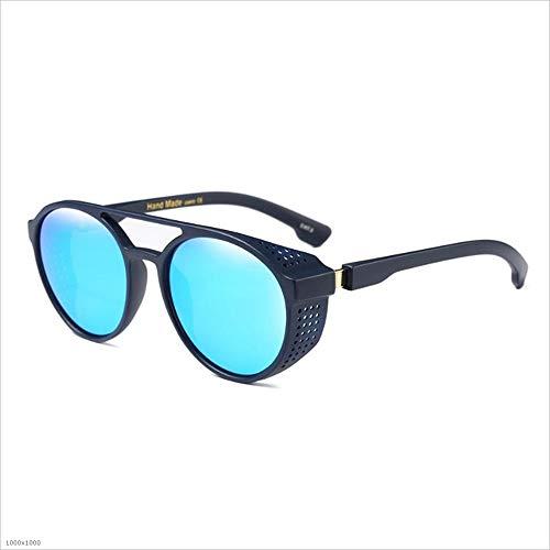 Gafas Azul Driving de Señora Fishing Hombre de Protección Espejo Vintage clásico Summer UV Lentes Sunglasses para Color Beach Cool Mujer Steampunk Holiday Plata Sol gAgEqwCWr