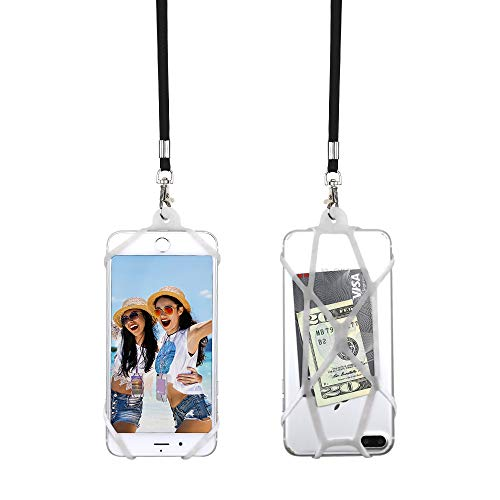 Universal Lanyard (Gear Beast Universal Web Cell Phone Lanyard Compatible with iPhone, Galaxy & Most Smartphones, Includes Phone Case Holder,Neck Strap)