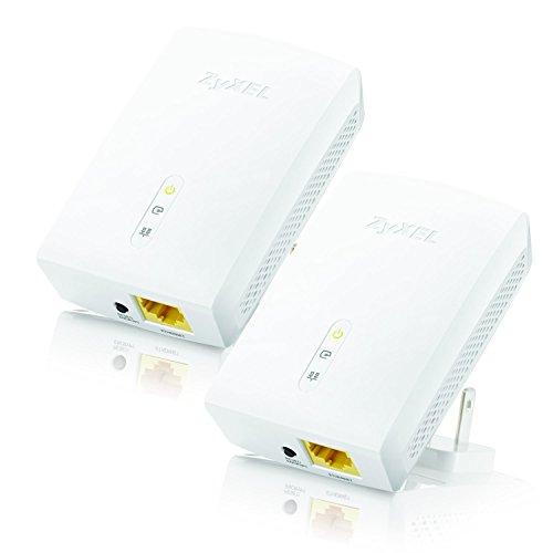 ZyXEL 1200 Mbps Powerline AV1200 Gigabit Adapter, Starter Kit - 2 Units (PLA5405KIT)