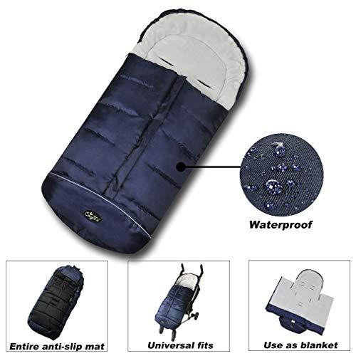 (Go 3 Seasons Stroller Footmuff, Warm Sleep Sack for Toddlers, Waterproof Universal Stroller Sleeping Bag, Anti-Slip,Extendable, Height Adjustable,Safty Reflective Strips, Multifunction,CPC Certified)