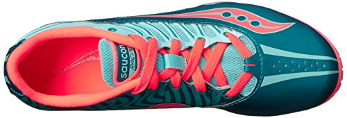 Saucony Women's Spitfire Spike Shoe, Teal/Coral, 7 M US by Saucony (Image #8)