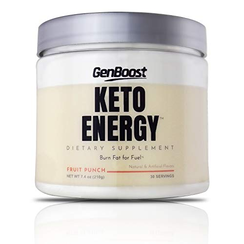 GenBoost - Keto Energy - 30 Day Slimming Drink (30 Servings) - Powder Drink Mix to Reach Ketosis, Reduce Stress & Boost Energy - Exogenous Ketones & BHB Salts for Any Ketogenic Diet - Fruit Punch (Name A Sport Associated With Other Countries)