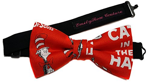 Men's Special Characters Bow Ties (Large-12 Year Olds to Adults, Dr. Seuss) -