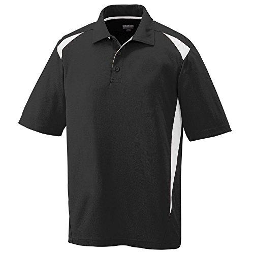 Augusta Sportswear Mens Premier Sport Polo Shirt-Black/White-XL