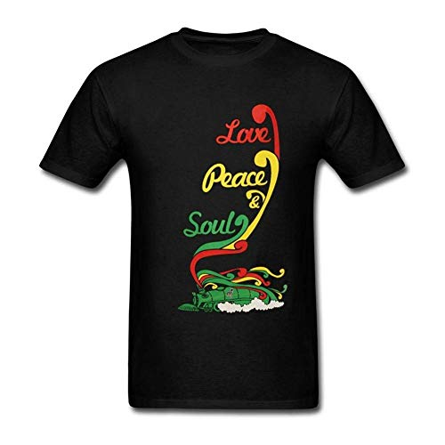 Shake Grass Mens Funny Soul Train Design Generic T-Shirt Short-Sleeve ()