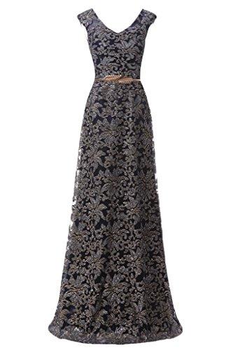 Promgirl House Damen Elegant Pailletten ALinie Abendkleider ...