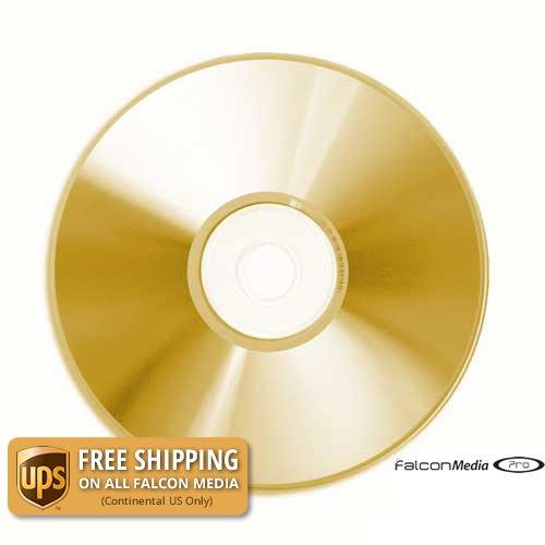 100PCS Falcon 24K Gold Archival CD-R Falcon Professional Media-708