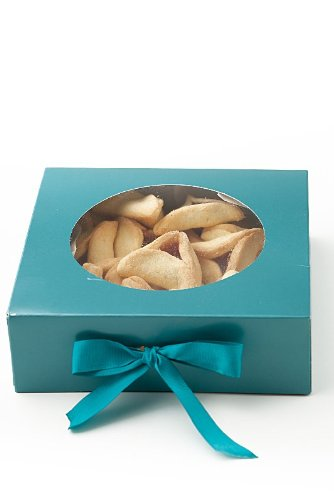 Gluten Free Palace Purim Mishloach Manot, Purim Baskets, Gluten Free Kosher Food Gifts, Jewish Holiday Gifts, 1 X Turquoise Cookie Gift Boxes