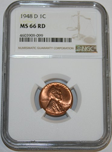 1948 D Lincoln Cent Cent MS66 NGC RD