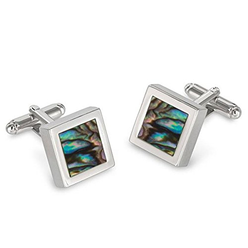 Abalone Square Framed Cufflinks ()
