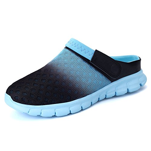 Garden Shoes Mens Womens Clogs Summer Mesh Sandals Outdoor Unisex Water Shoes Blue-42 by BARKOR