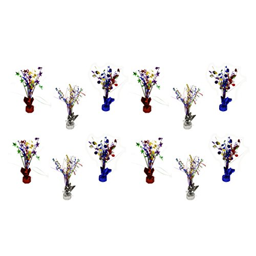 Set of 12 Happy Birthday Themed Spray Centerpieces! Perfect for Birthday Parties! by Black Duck Brand