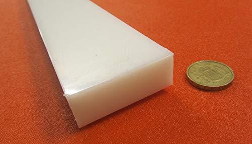 Rectangular Bar 2 pc High Density Polyethylene x 48 White HDPE x 2.00 2 1 1.00
