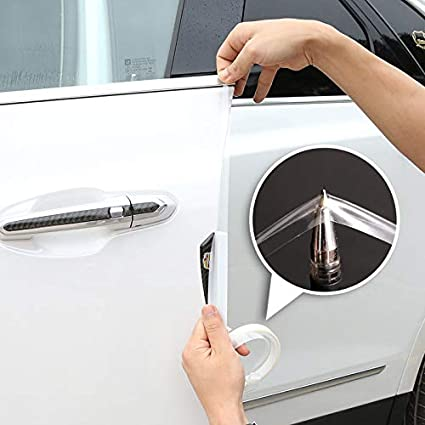 8 x Clear Protector Scratch Strip Protection Car Door Edge Guards Trim Molding