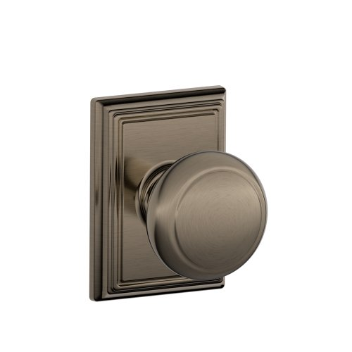 (Schlage F10AND620ADD Addison Collection Andover Passage Knob, Antique)