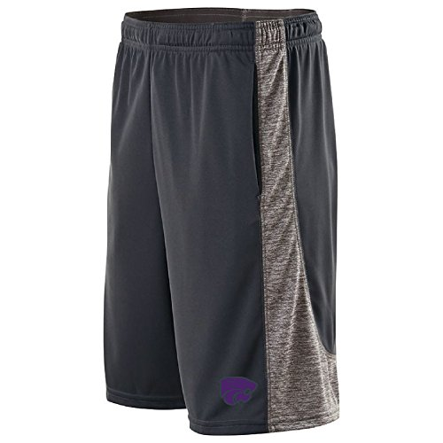 NCAA Kansas State Wildcats Men's Electron Shorts, X-Large, Carbon/Graphite Heather