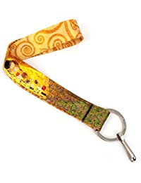 Gustav Klimt Kiss Premium Wristlet with Flat Ring - Made in USA