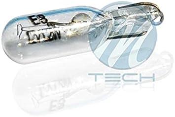 10 bombillas halógenas (1 caja) T5 12V/1.2W: Amazon.es: Coche y moto