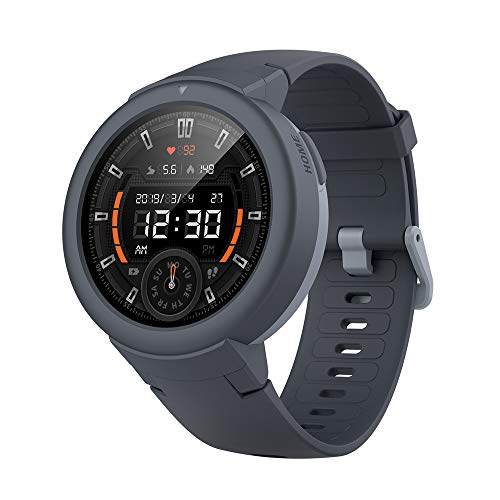 Amazfit Verge Lite Smartwatch by Huami with 20-Day Battery Life,24/7 Heart Rate 1.3 Inch AMOLED Touchscreen IP68, US Service and Warranty,(Shadow Grey)
