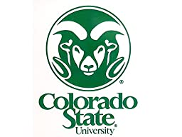 NCAA Colorado State Rams Small Static Decal