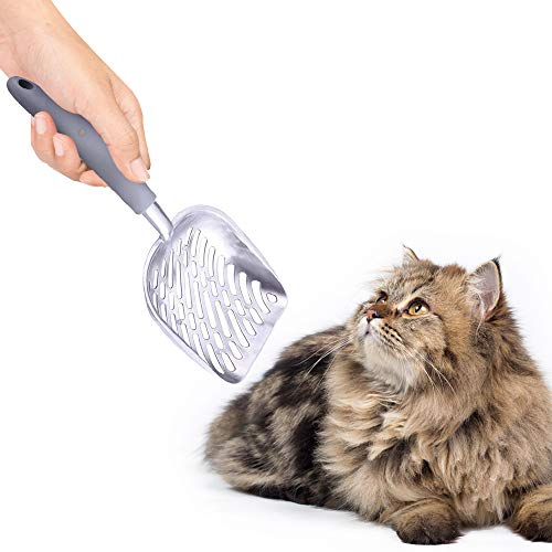 SunGrow Cat Litter Scoop, 14×5.6×1.6 Inches, Cat Litter Power Shovel, 2-Minutes to Clean a Litter Box, Indestructible…