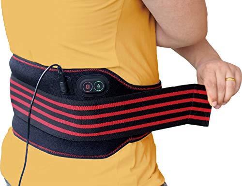 Ceinture chauffante pour le massage du bas du dos de sticro, 3 réglages de température et de vibration, enveloppe de thérapie de taille chauffante pour soulager la douleur de la tension musculaire abdominale lombaire de l'estomac, crampes menstruelles