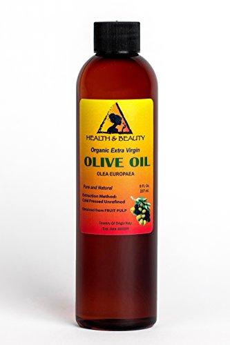 Olive Oil Extra Virgin Organic Unrefined Raw Cold Pressed Premium Fresh Pure 8 oz (Olive Unrefined Oil)