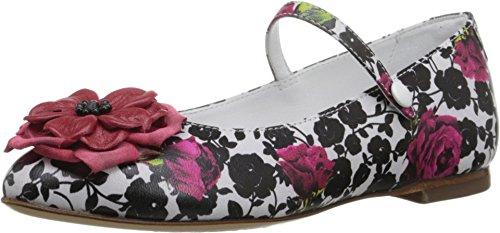 Dolce & Gabbana Kids Girl's Floral Mary Jane (Little Kid) Rose/White/Black 34 (US 3 Little Kid) M by Dolce & Gabbana