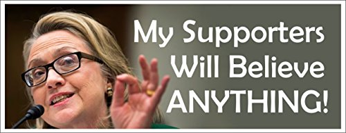 Anti Hillary Clinton Political Bumper Sticker