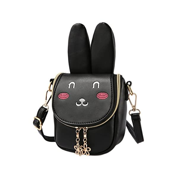 Mibasies Kids Bunny Purse Shoulder Bags for Girls Easter Day Gifts for Children