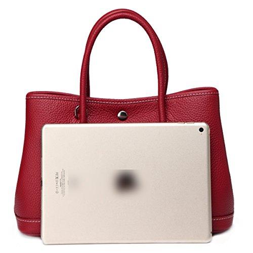 Macton leather Bag 30cm Red shoulder 9016 garden Genuine cowskin Women MC bag Br5qB6FW
