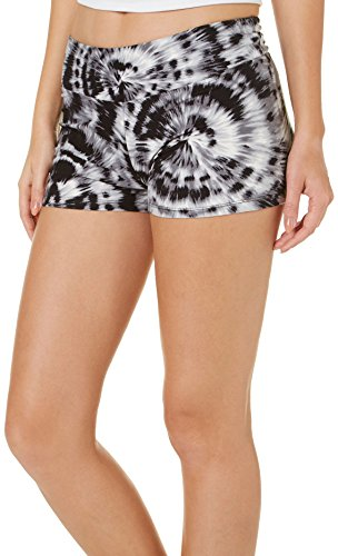 Hot Kiss Juniors Firework Pull On Shorts Medium Black/White/Grey for $<!--$5.00-->