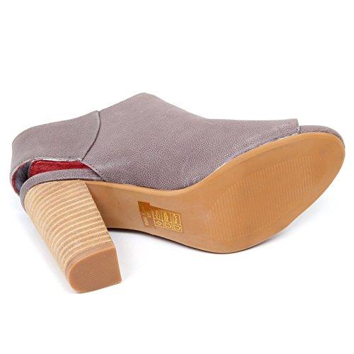 woman CAMPBELL grigio vintage QUEBEC shoe tortora sandalo grigio tortora JEFFREY donna D2182 1qWSxz6n