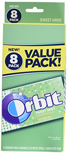 Orbit Sweet Mint Sugar Free Gum, 8 Count (Orbit Mint)