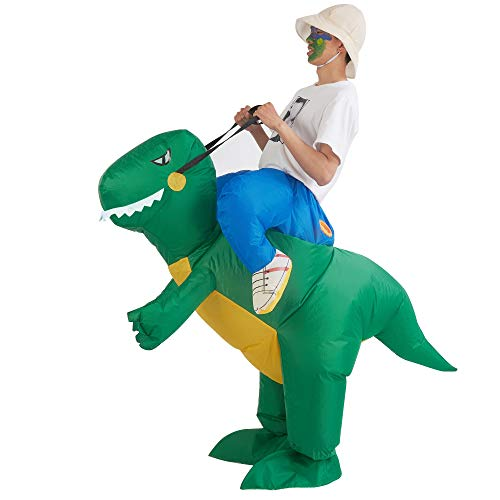 Awesome Guys Halloween Costumes (Lulu Home Inflatable Dinosaur T-REX Costume, Halloween Dinosaur Cosplay Costume)