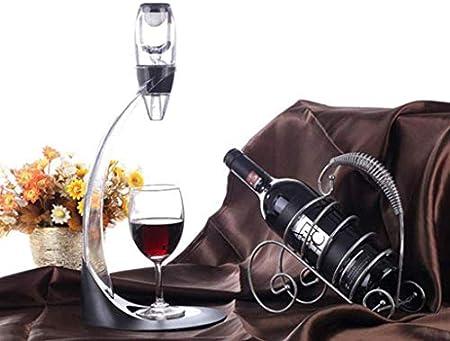 WANGIRL Vourer de Vino, Decantador de mágicas, Aerador de Vino Tinto Soporte Fast Deluxe para Oxigenar y Decantar el Vino, Decantador de vinos Decantación de Vino Jarra con la Torre Set LOLDF1