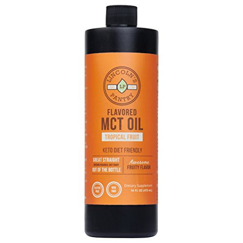 Premium Flavored MCT Oil (16oz) – Amazing Tropical Fruit Flavor, Non-GMO, All Natural For Sale