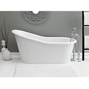 Cheviot Products Inc. 2157 WC Customized Dakota Cast Iron Bathtub With  Continuous Rolled Rim