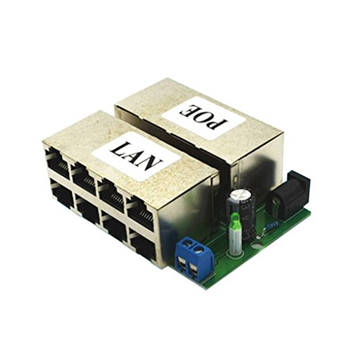 Multiport Module - OmkuwlQ 8 Port DC 12-48V Power Over Ethernet 10/100Mbps Speeds POE Power Supply Module Without Outer Shell