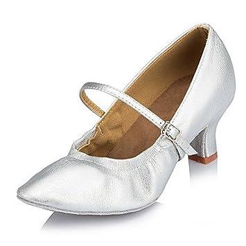 Chaussures de danse(Noir Bleu) -Personnalisables-Talon Personnalisé-Daim Cuir-Latines Modernes Salsa , black , us4-4.5 / eu34 / uk2-2.5 / cn33