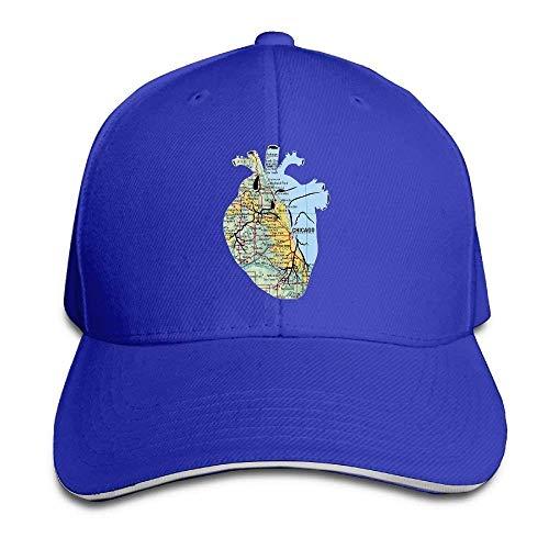 JHDHVRFRr Hat Chicago Map Denim Skull Cap Cowboy Cowgirl Sport Hats for Men Women