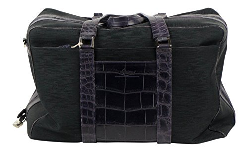brioni-black-canvas-with-purple-crocodile-leather-duffle-bag