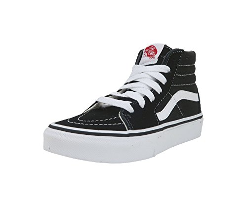 Vans Kids Sk8-Hi Black/True White Skate Shoe 12 Kids US