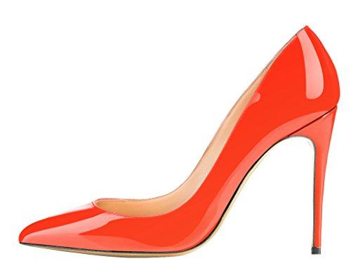 Guoar - Cerrado Mujer - C-Orange Lackleder