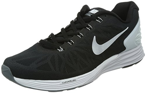 Nike Men's Lunarglide 6 Running Shoe Black/Pure Platinum/Cool Grey/White Size 9 M US