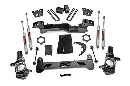 "Rough Country 6"" Lift Kit fits 2001-2010 Chevy HD GMC 2500 4WD Suspension Lift Kit 29730"