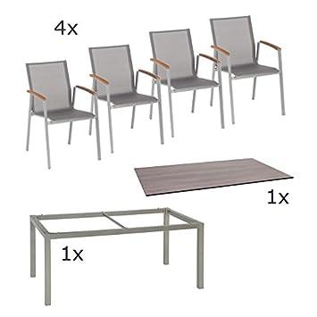 Stern Gartenmöbel Set Top 6-teilig Stapelsessel und Tischgestell aus ...