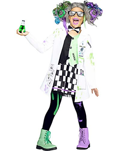 HalloCostume Girls Mad Scientist Costume, Halloween Costumes for